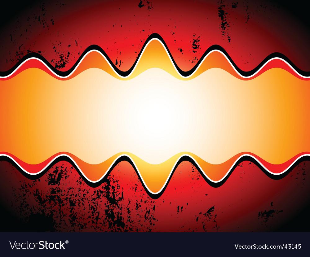 Grunge sound waves vector