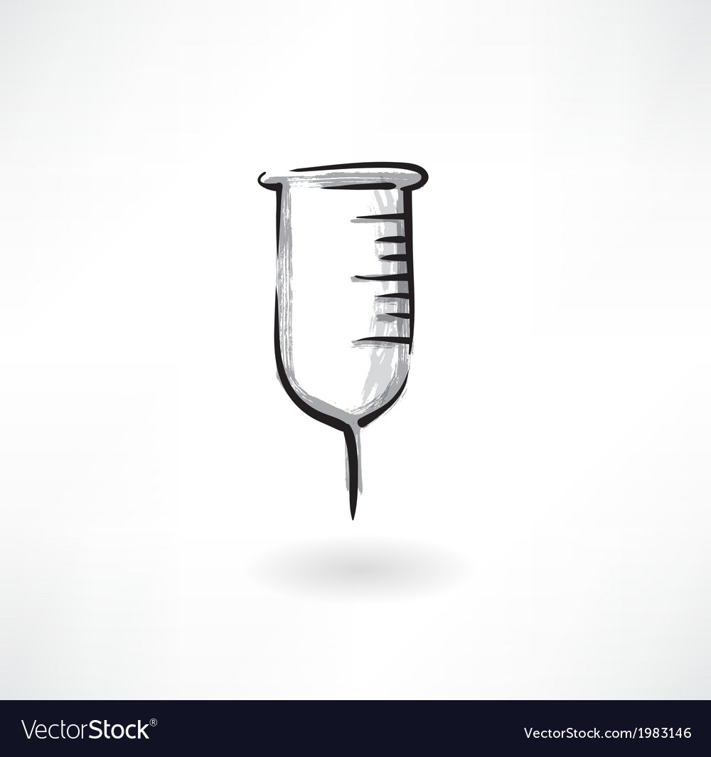 Beaker grunge icon vector