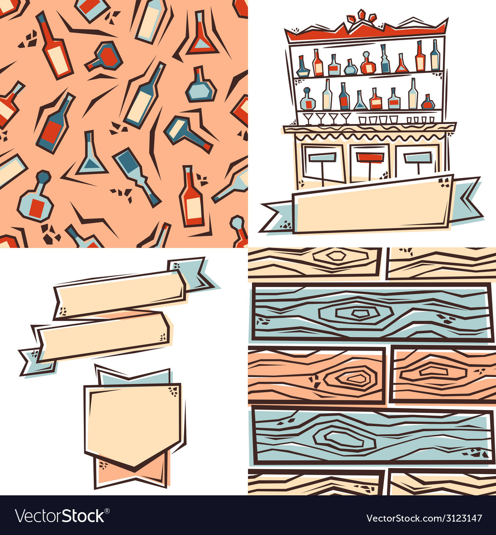 Bar design elements vector