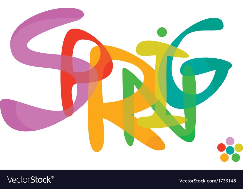 Spring font vector