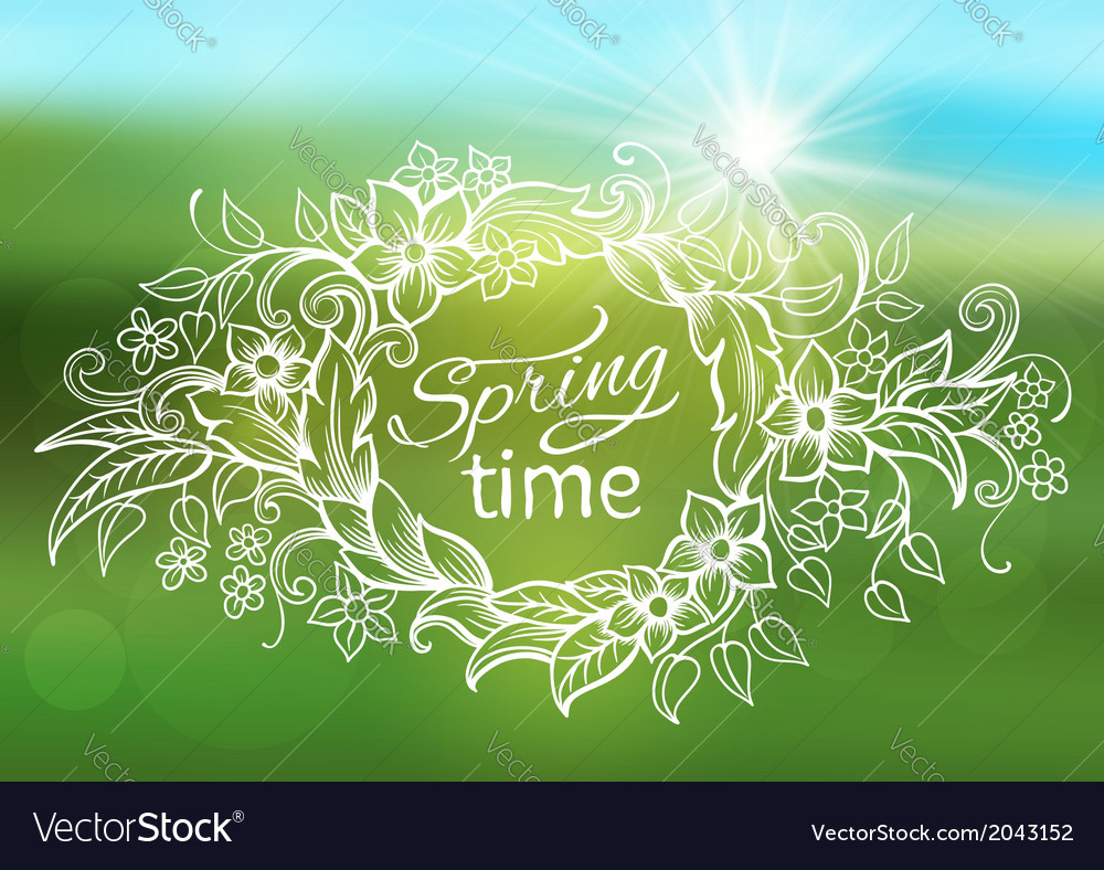 Abstract spring background frame vector