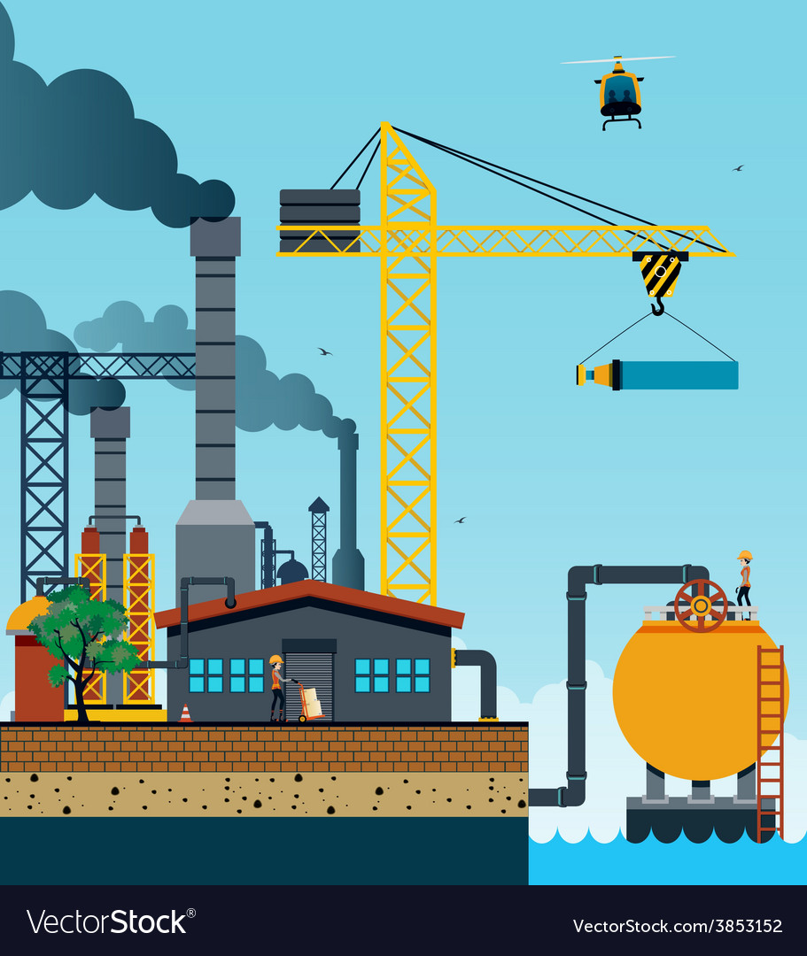 Industrial factory vector