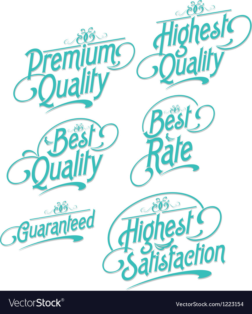 Decorative text label vector