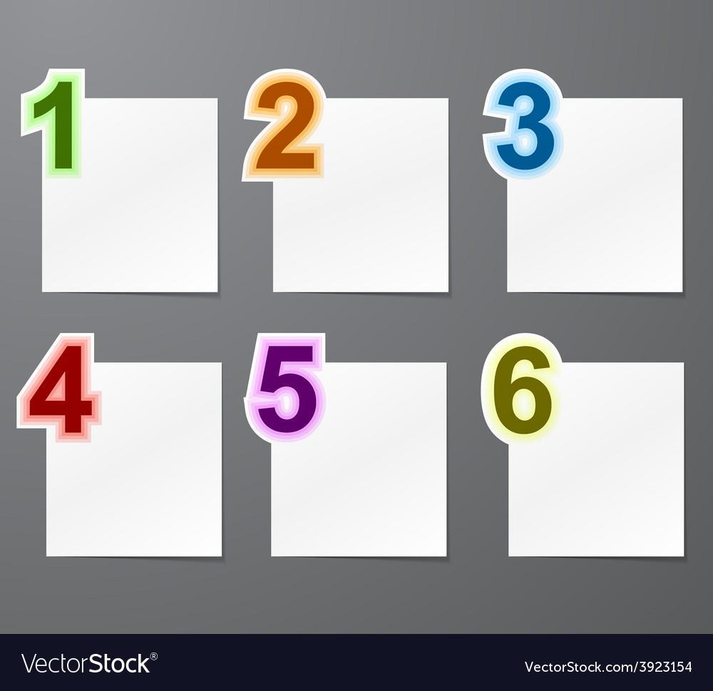 Numbered list design vector
