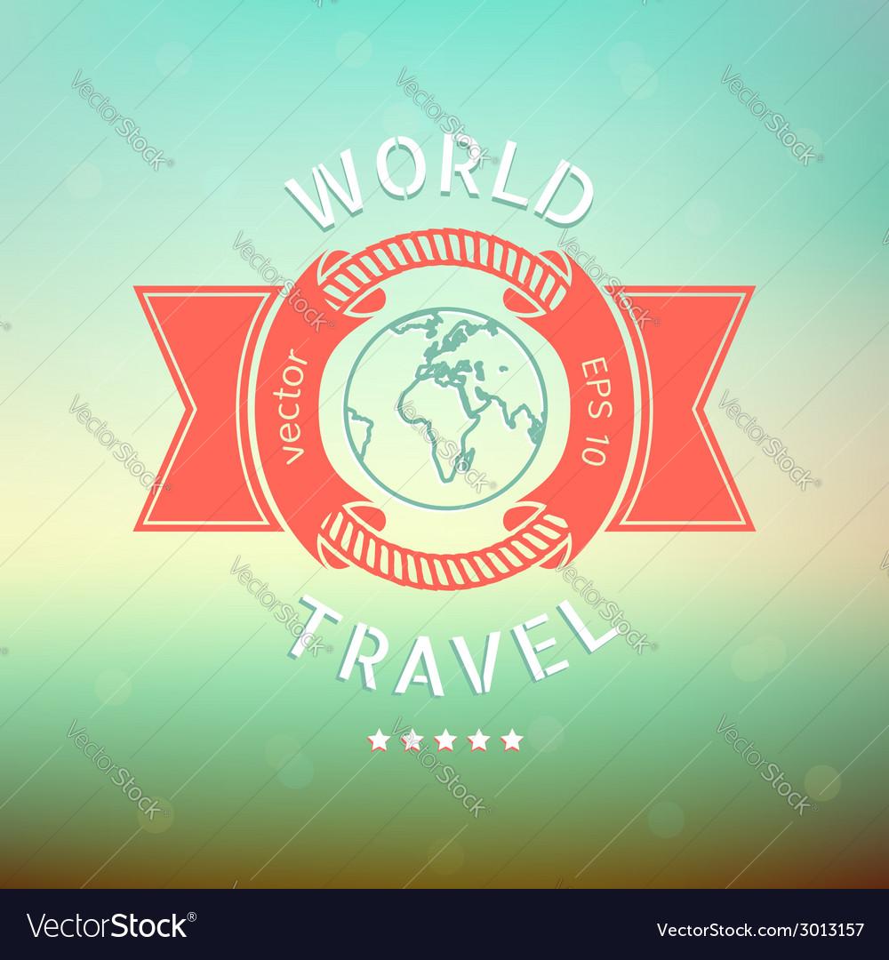 World travel vector