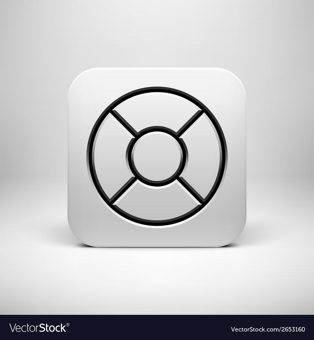 White abstract app icon button template vector