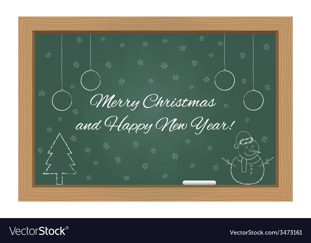 Christmas design on chalkboard vector