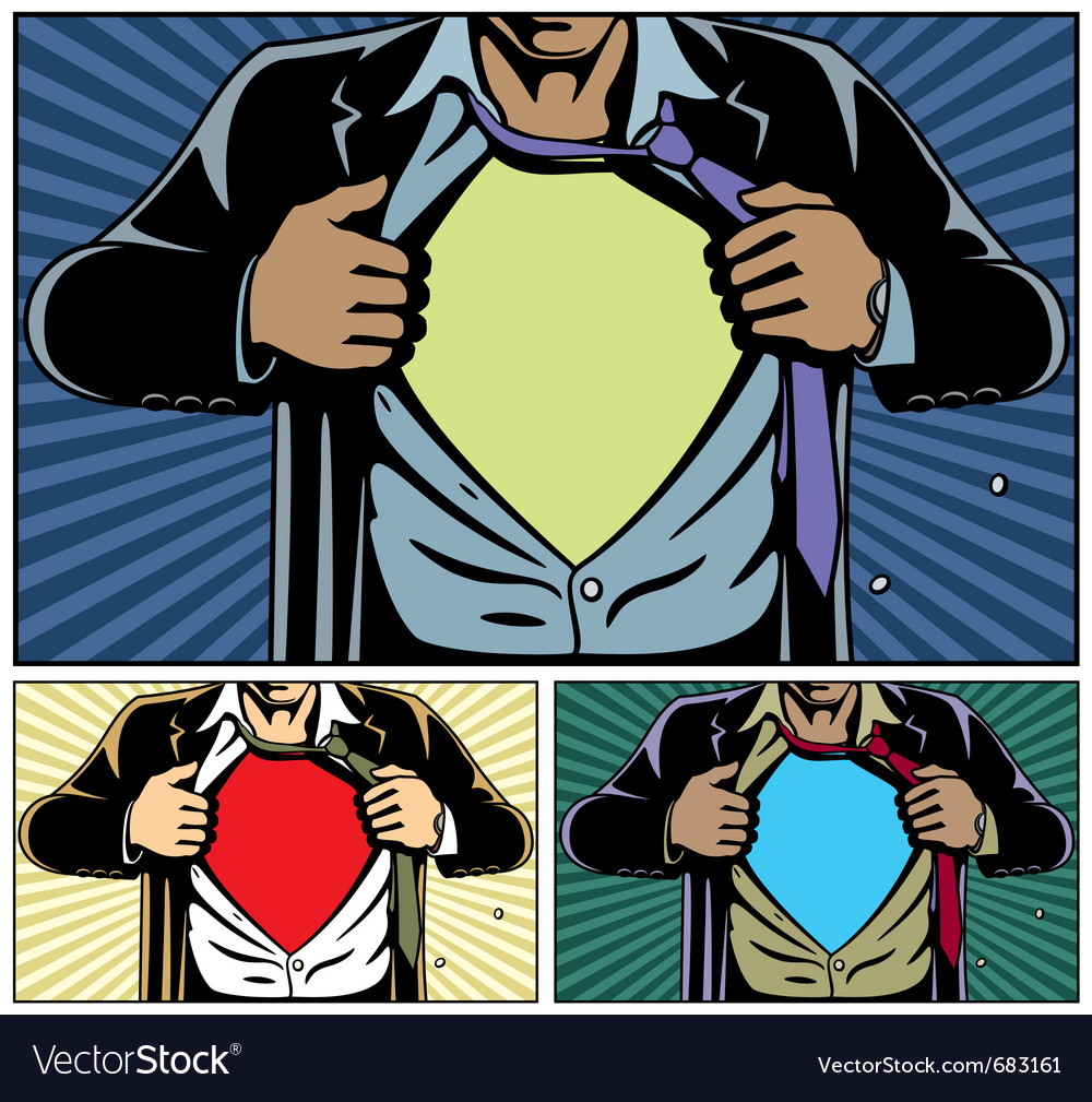 Superhero under cover vector