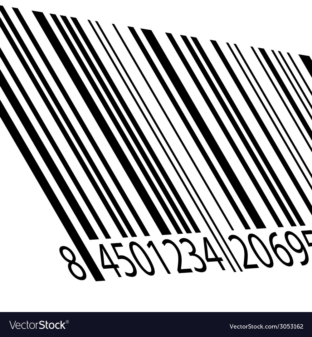 Bar code on a white vector