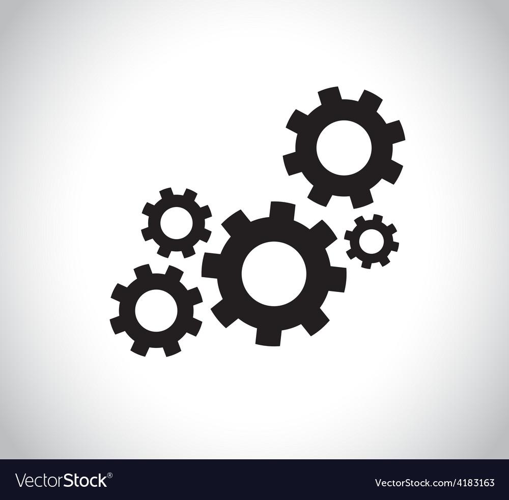 Cogs vector