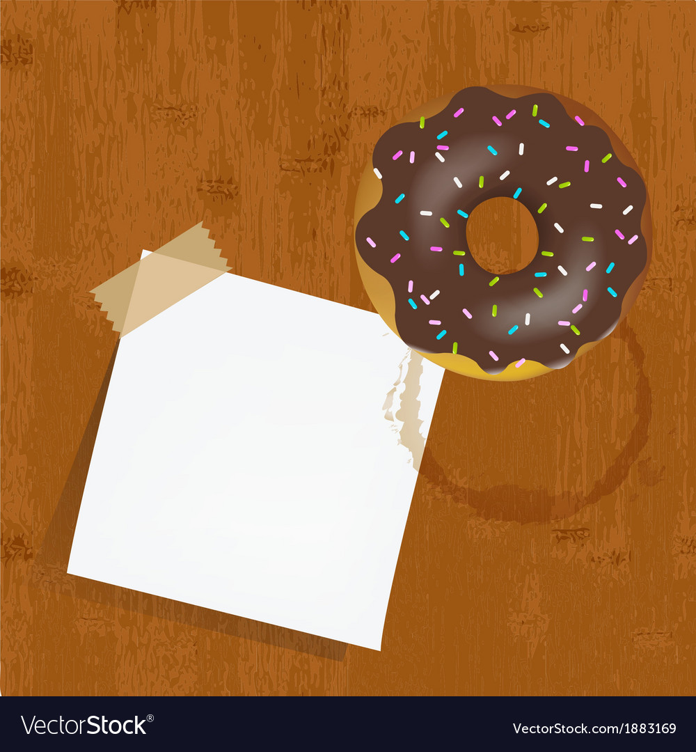 Empty reminder with chocolate donuts vector