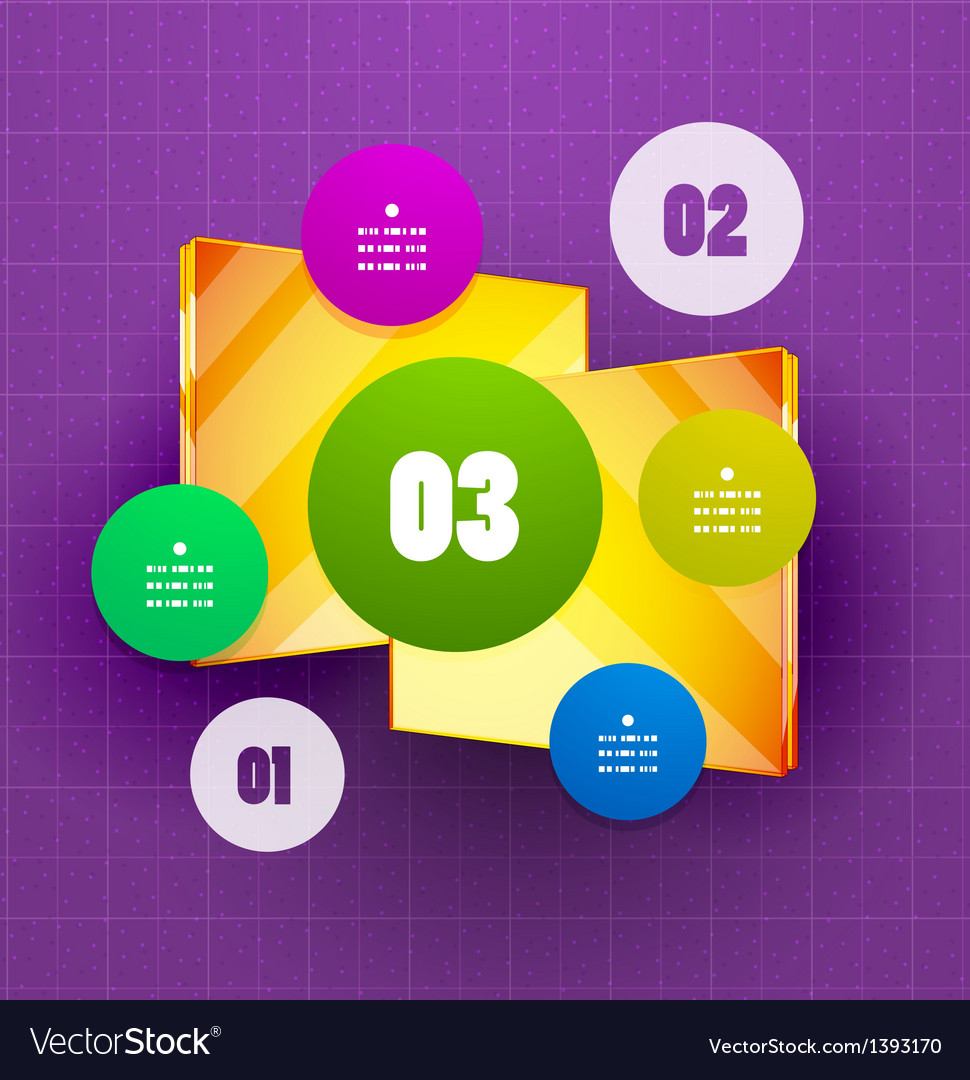 Square option banner template vector