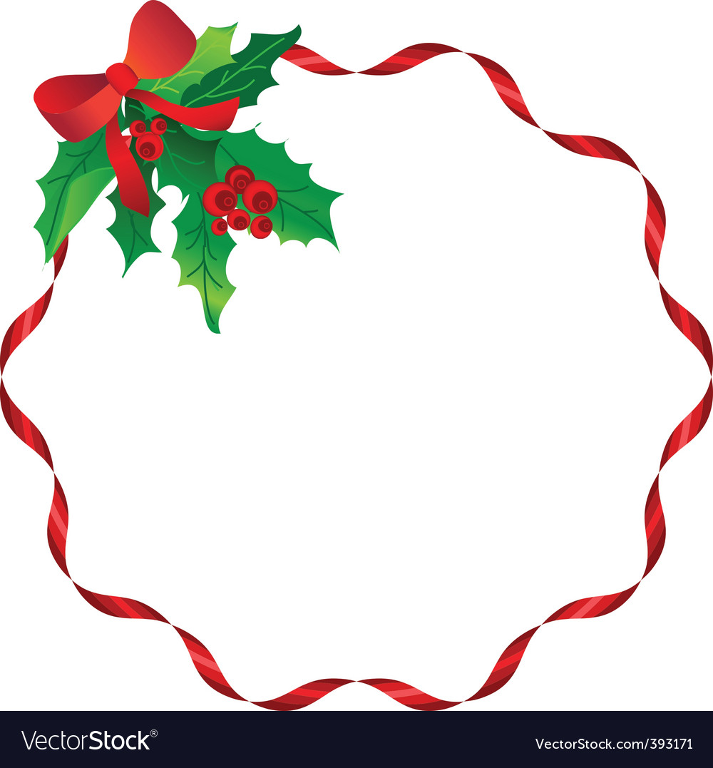 Christmas decoration frame vector