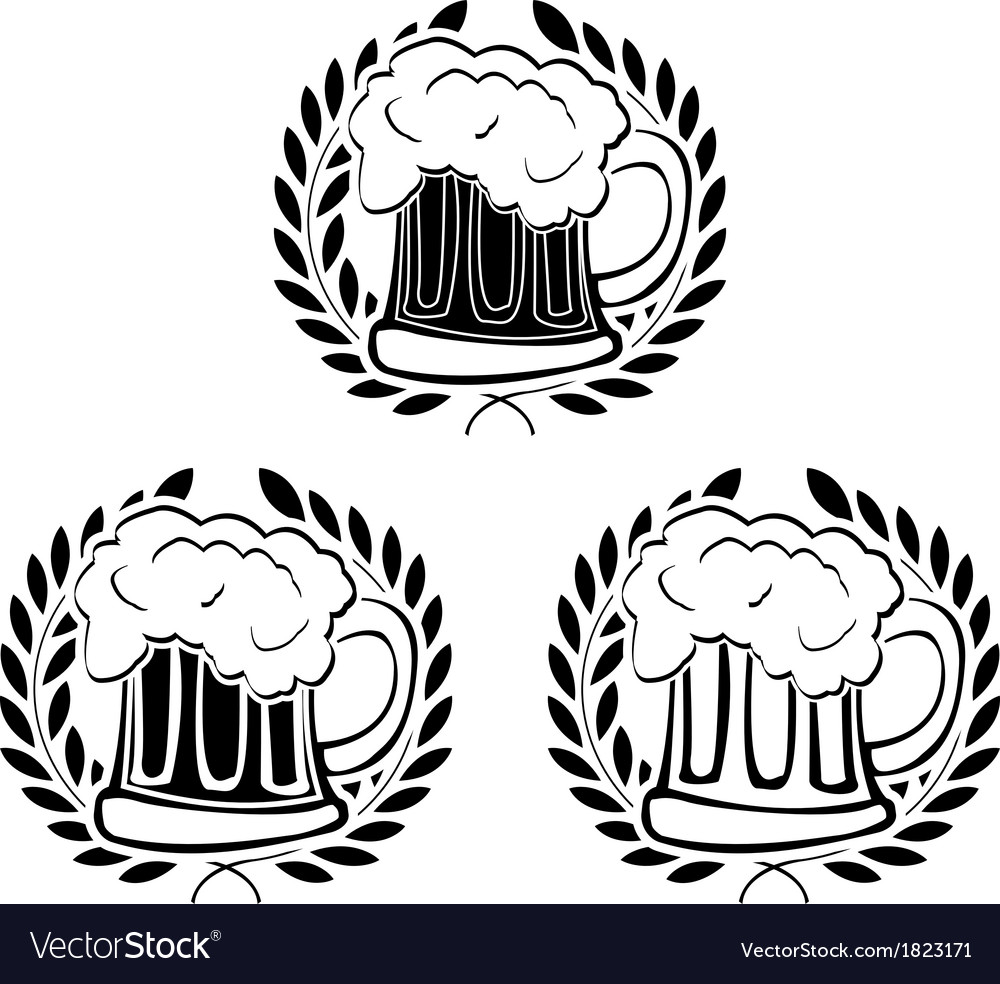 Glory of beer vector