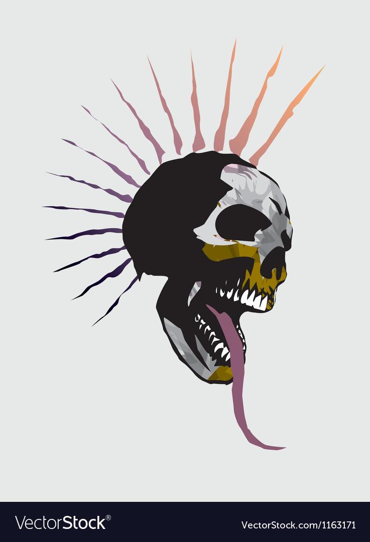 Skull punk vector