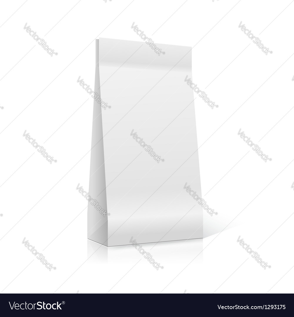Photorealistic packaging ready for your design vector