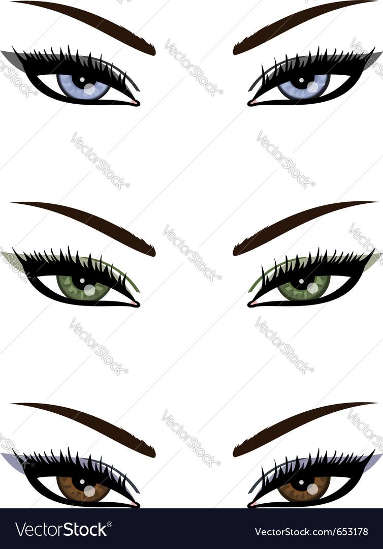 Sexy eyes collection vector