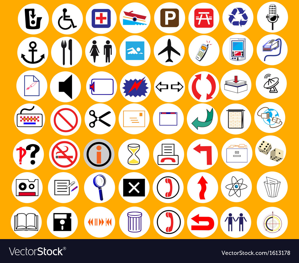 Signs of distinction vector