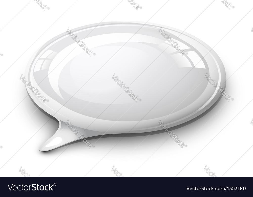 Speech bubble white vector
