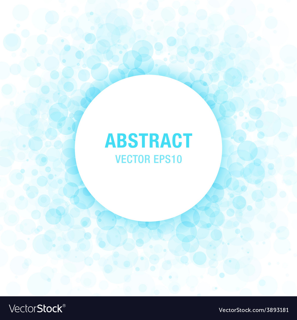 Blue abstract circle frame design element vector
