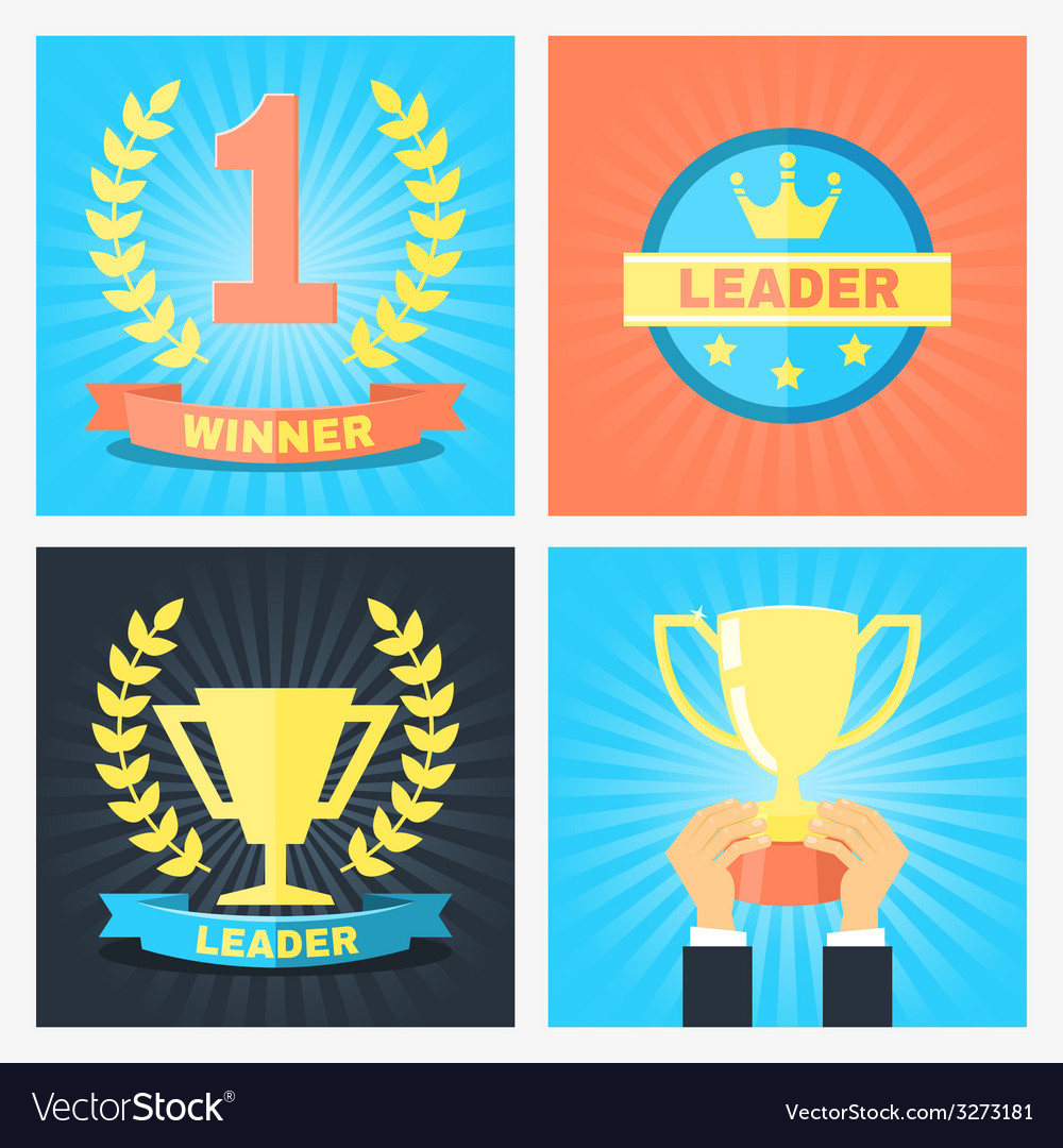 Winner badges vector