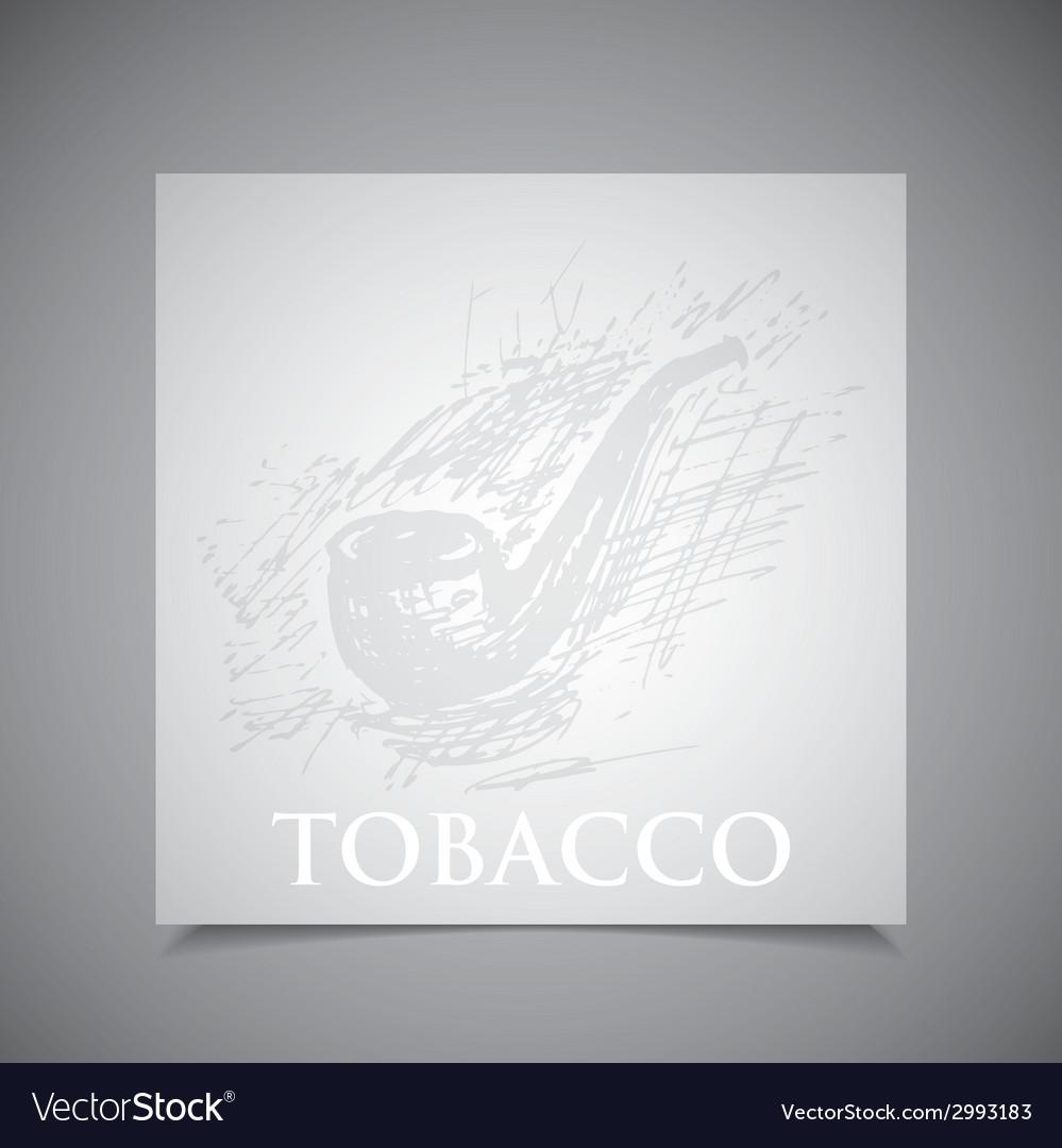 A hand-drawn tobacco pipe vector