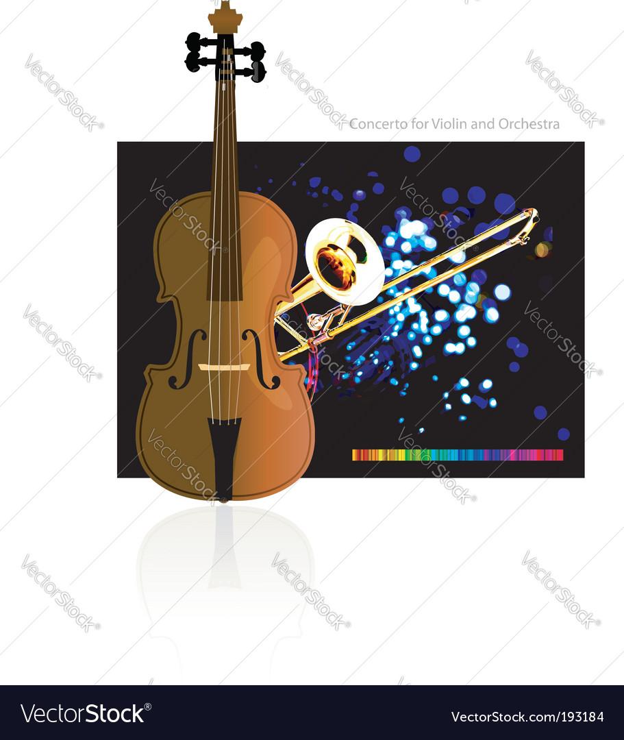 Concerto for violin and orchestra vector