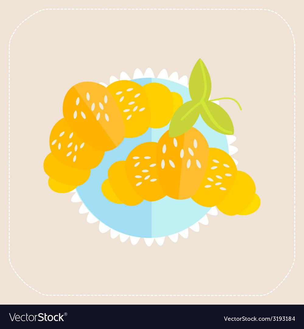 Croissant icon flat vector
