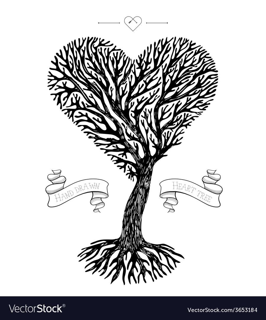 Tree crown like heart vector
