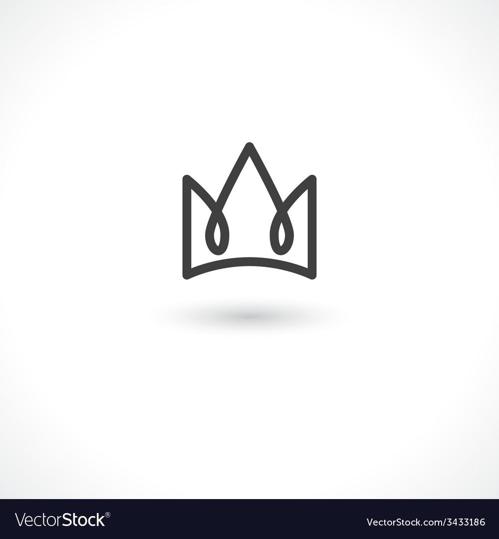 Crown king vector