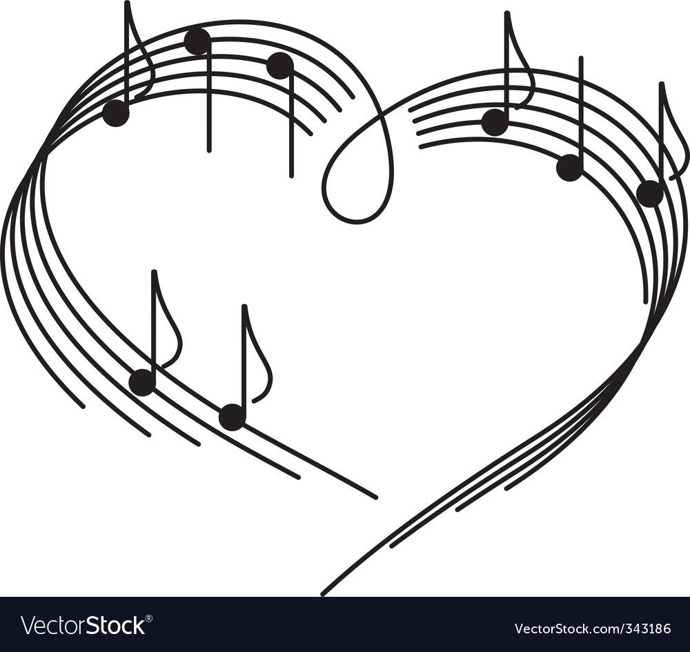Music of love vector