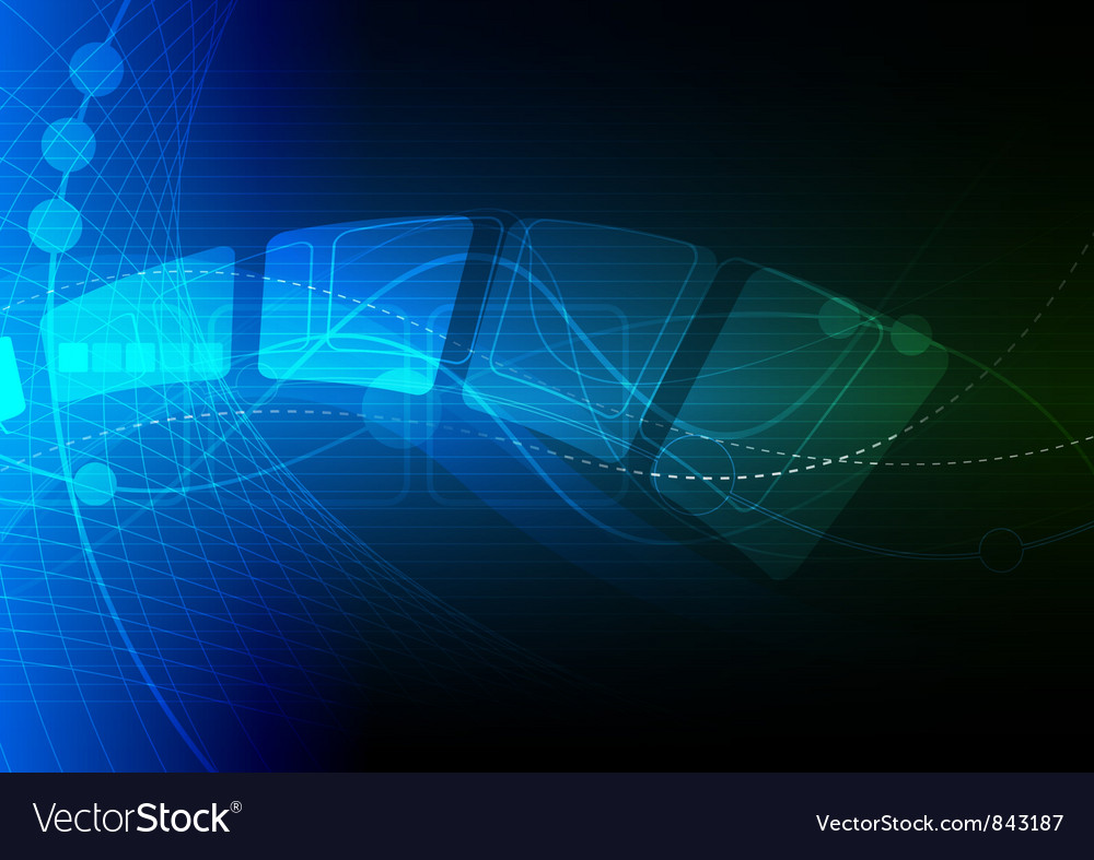 Blue abstract background design vector
