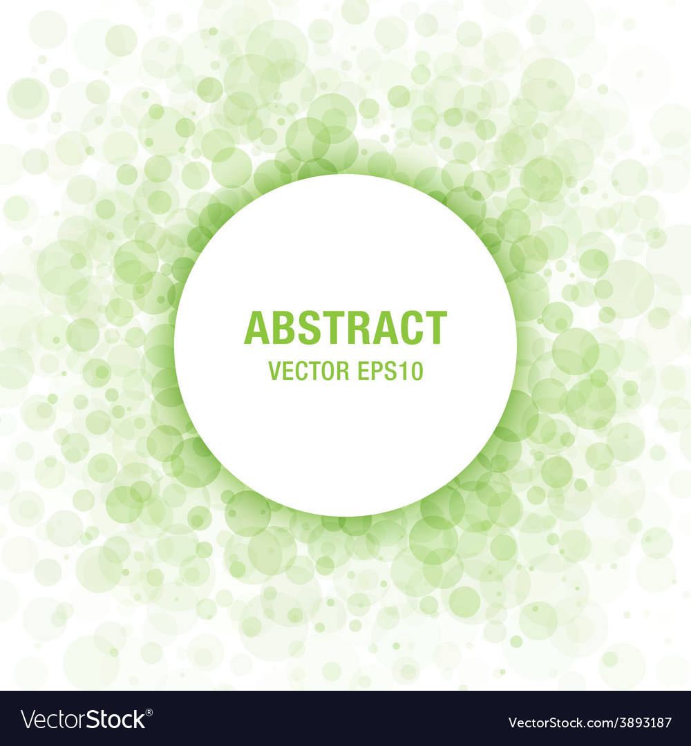 Green abstract circle frame design element vector
