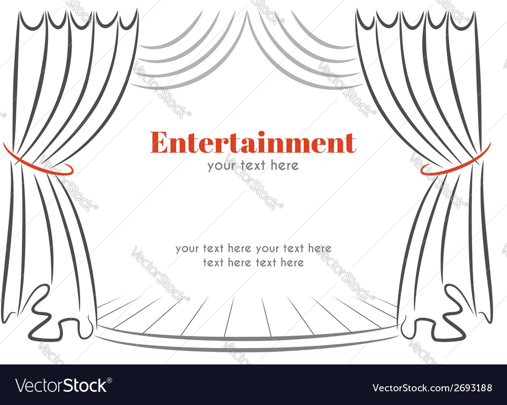 Scene with curtains vector
