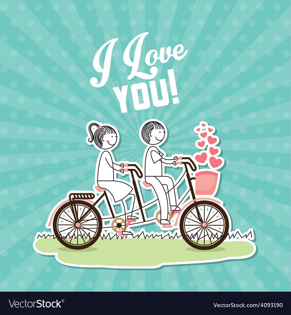 Love postcard vector