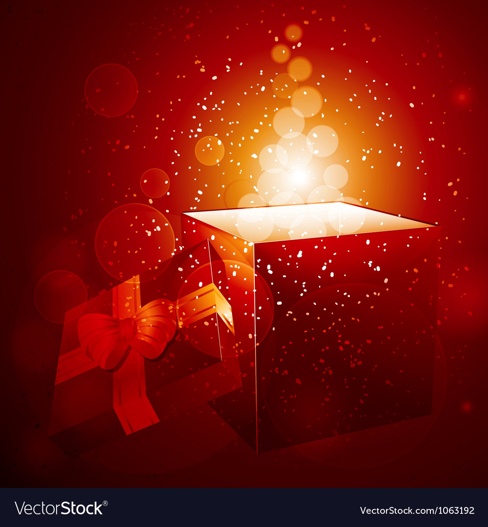 Glowing christmas gift background vector