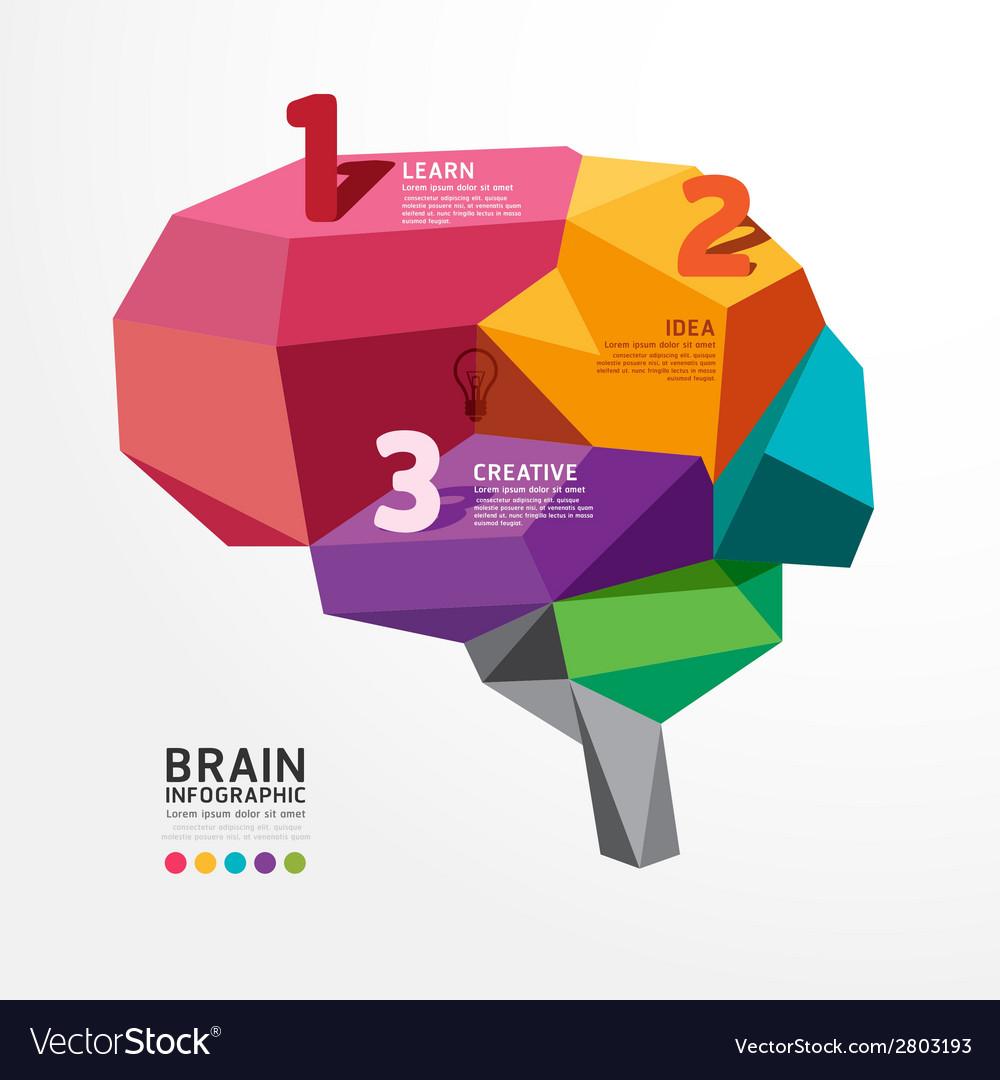 Infographic brain design conceptual vector