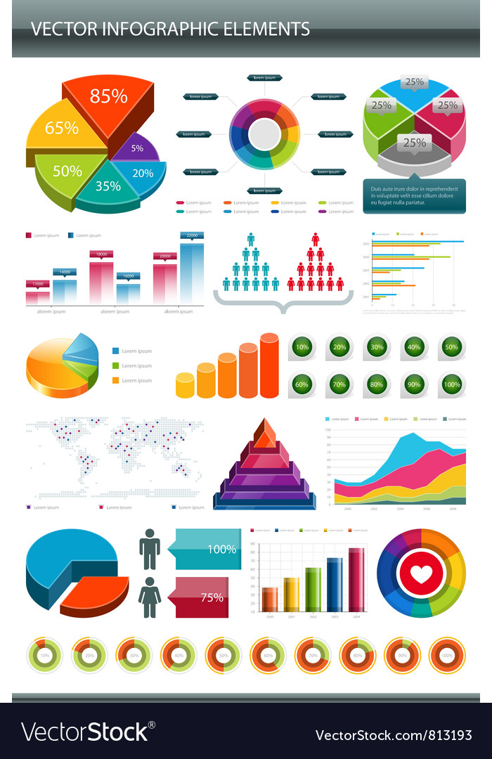 Infographics collection vector