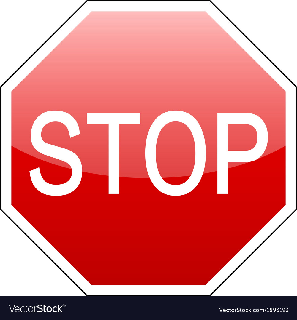 Stop sign red vector