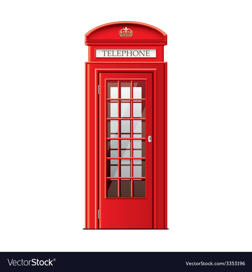 London phone booth isolated vector