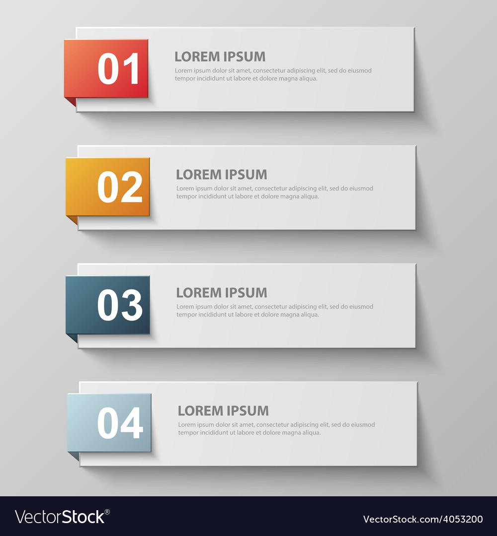 Paper infographic42 vector