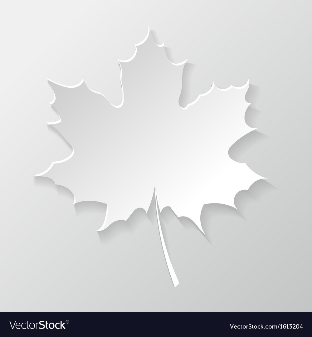 Abstract paper maple leaf vector