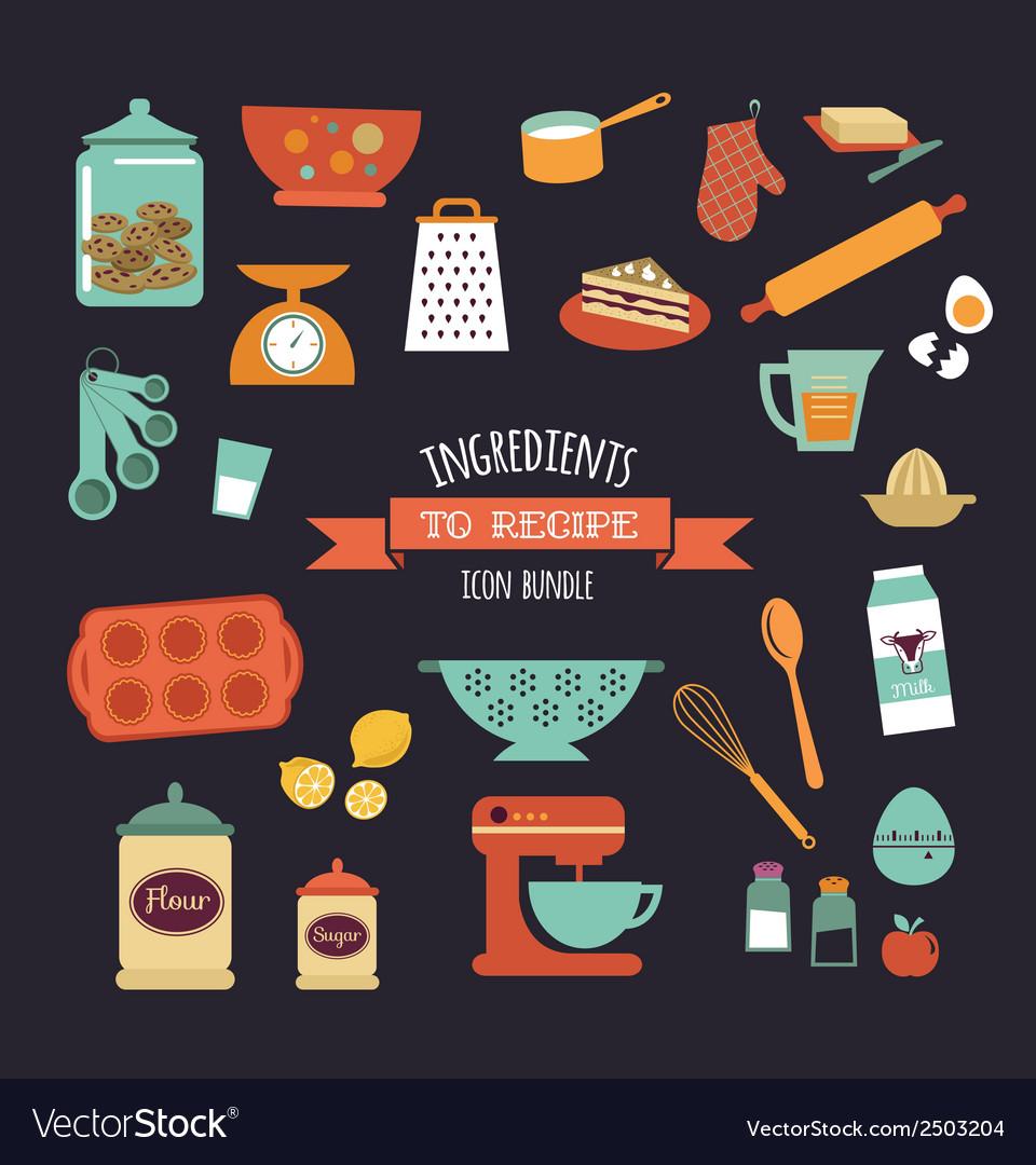 Chalkboard meal recipe template design vector