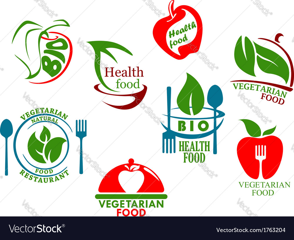 Vegetarian food symbols vector
