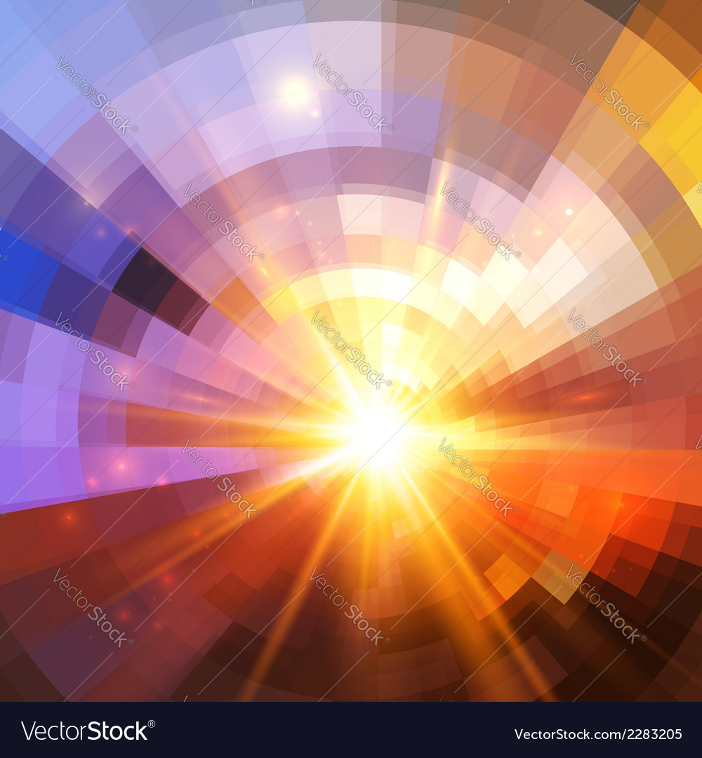 Abstract shining mosaic background vector