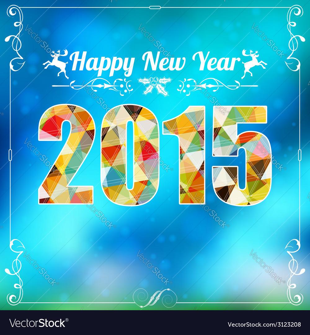 Retro new year frame vector