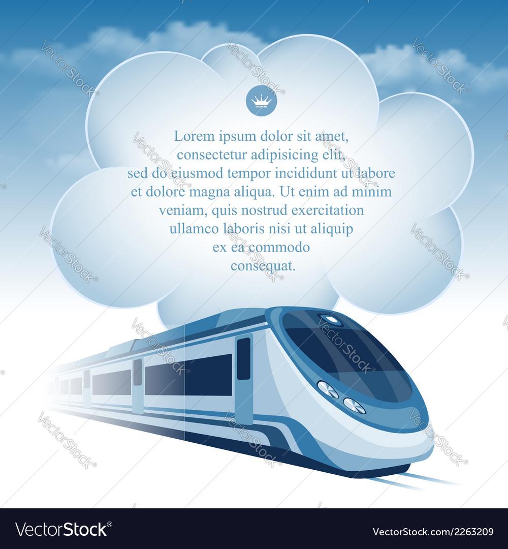 Train background vector
