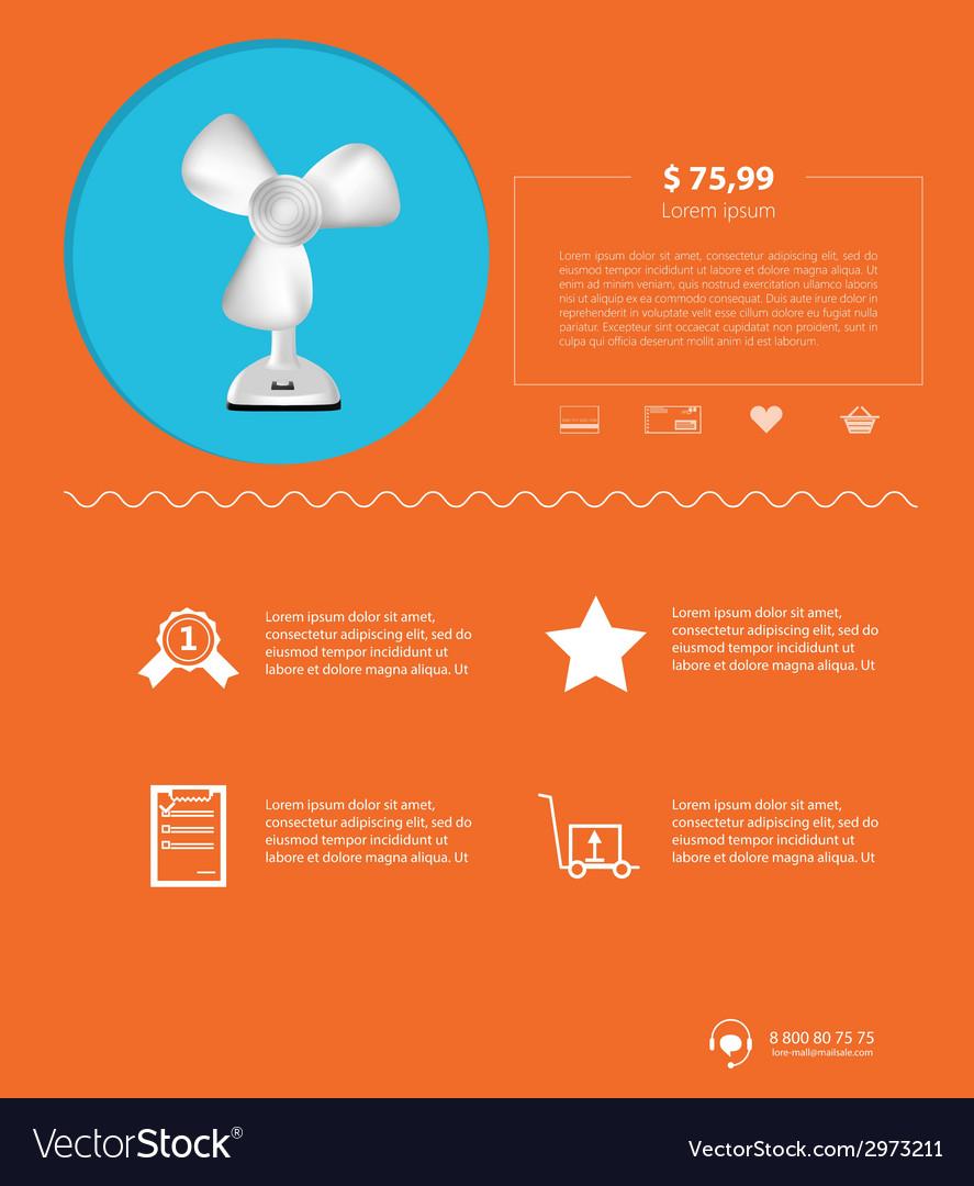Flat minimalist template business design vector