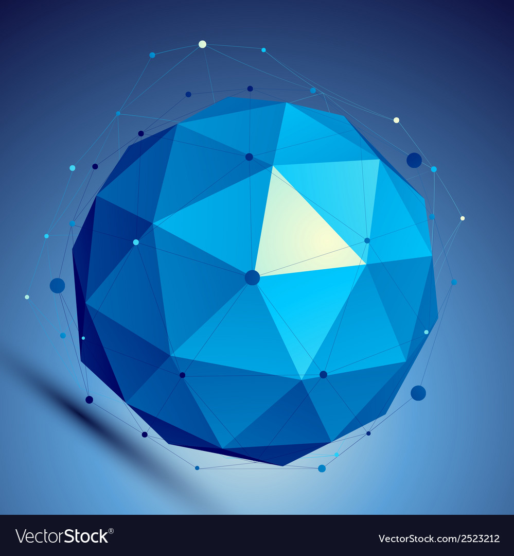 Blue 3d modern perspective abstract background vector