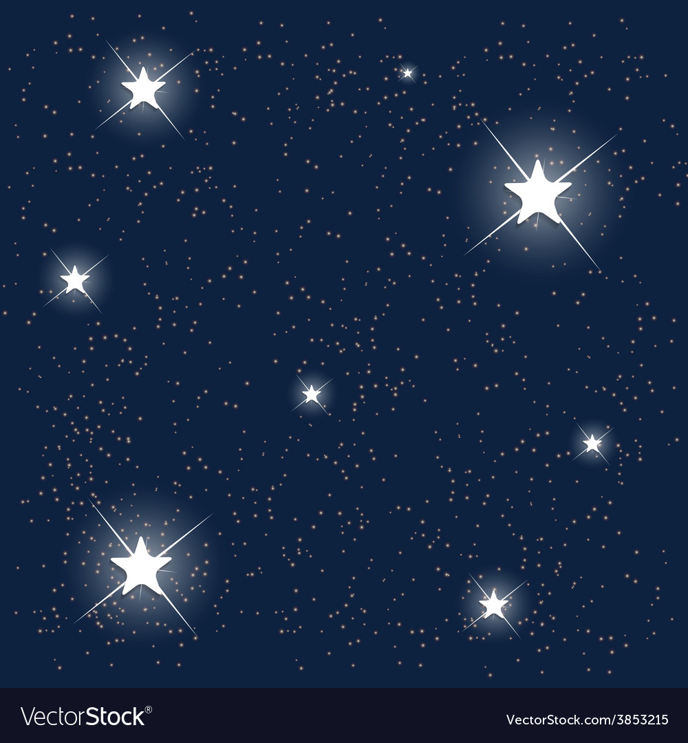 Space blue starry sky vector